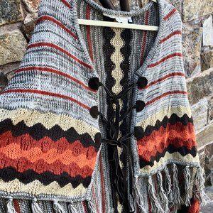 Jen's Pirate Booty Knit Journey Poncho OS